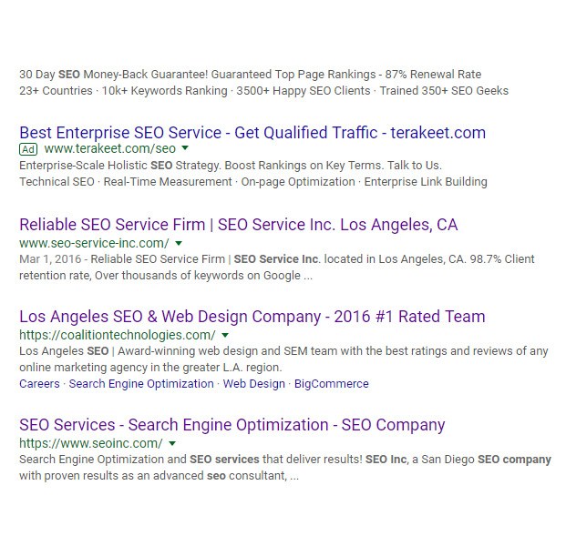 number one seo service in los angeles
